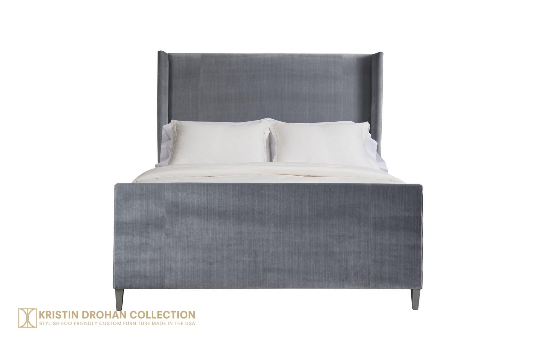 Charlene Bed - Tonal Velvet Seal