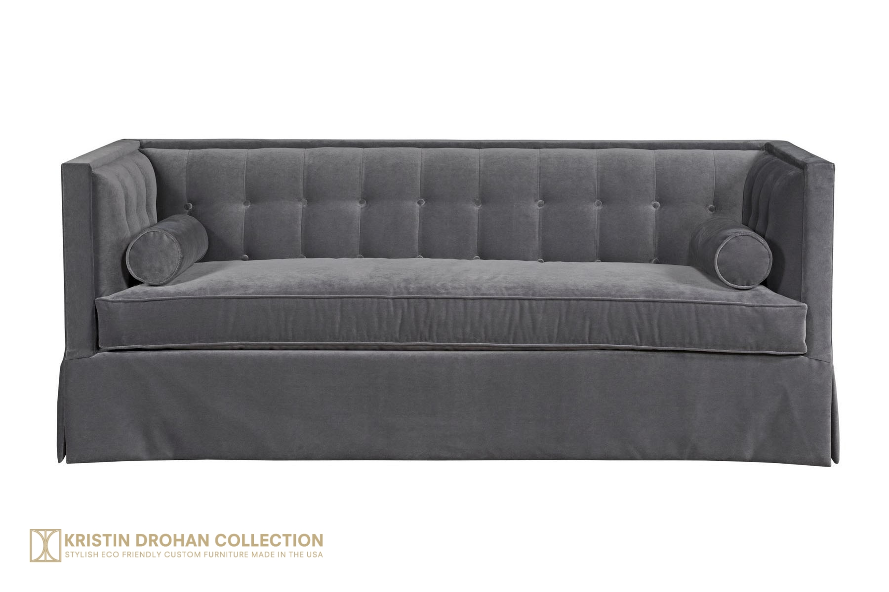 Christopher Sofa Tufted Tuxedo Sofa from The Kristin Drohan