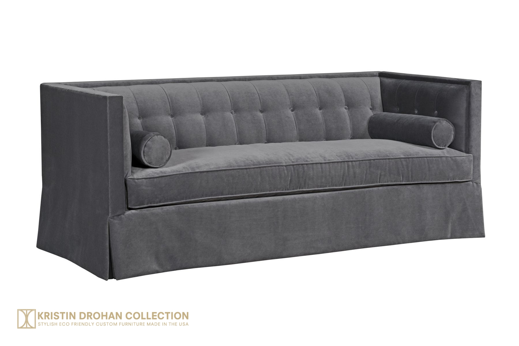 Christopher sofa Banks Slate Velvet