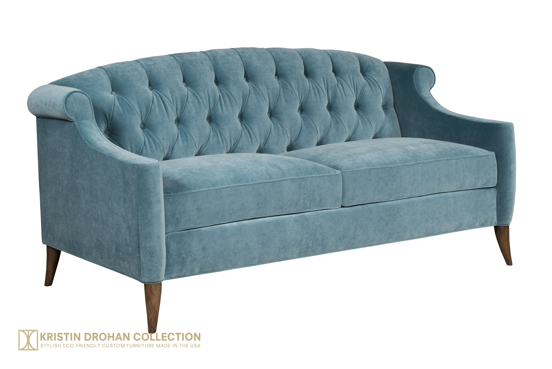 Coco Sofa 72 Cotton Velvet Calypso