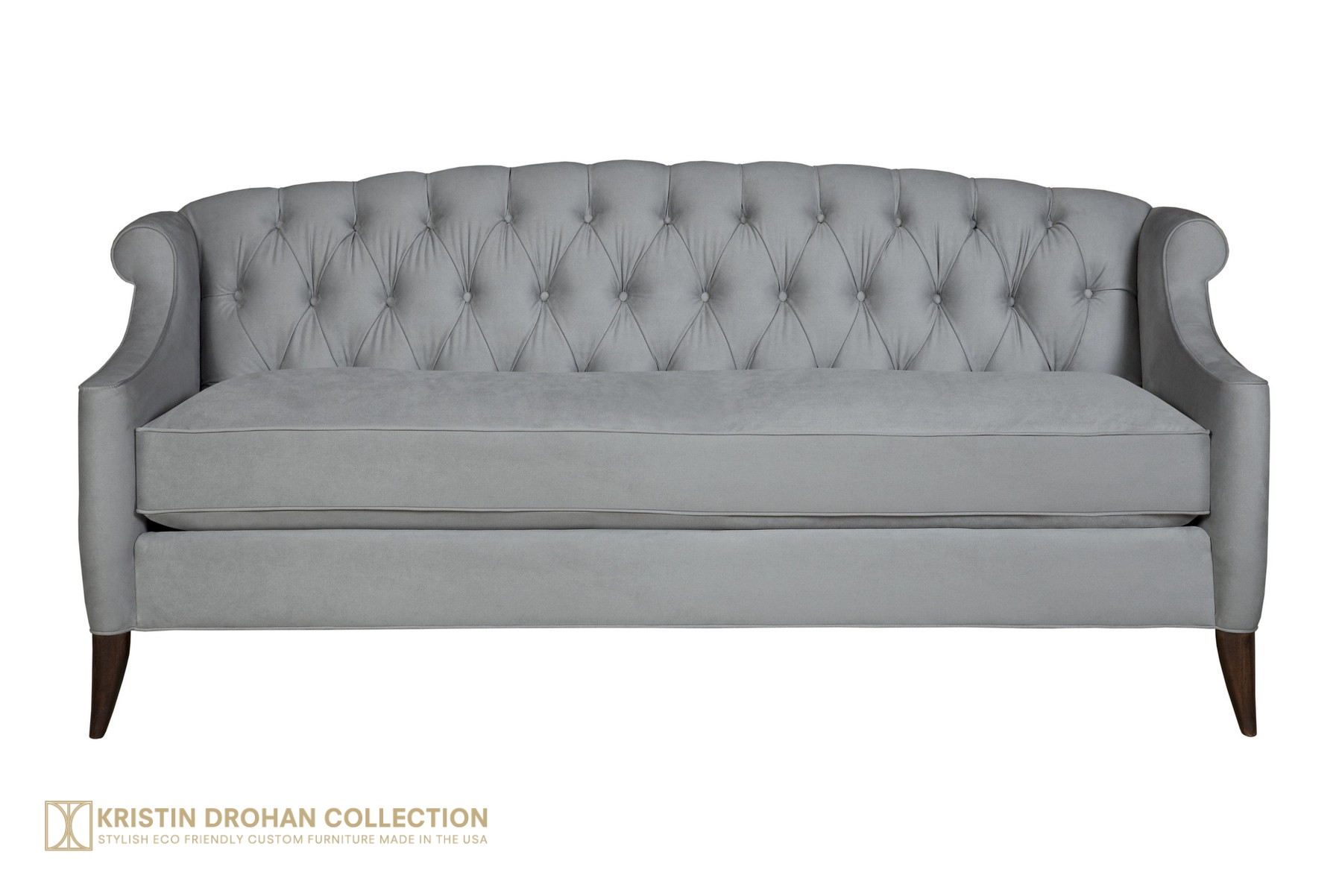 Coco Sofa 82 - Cotton Velvet Smoke