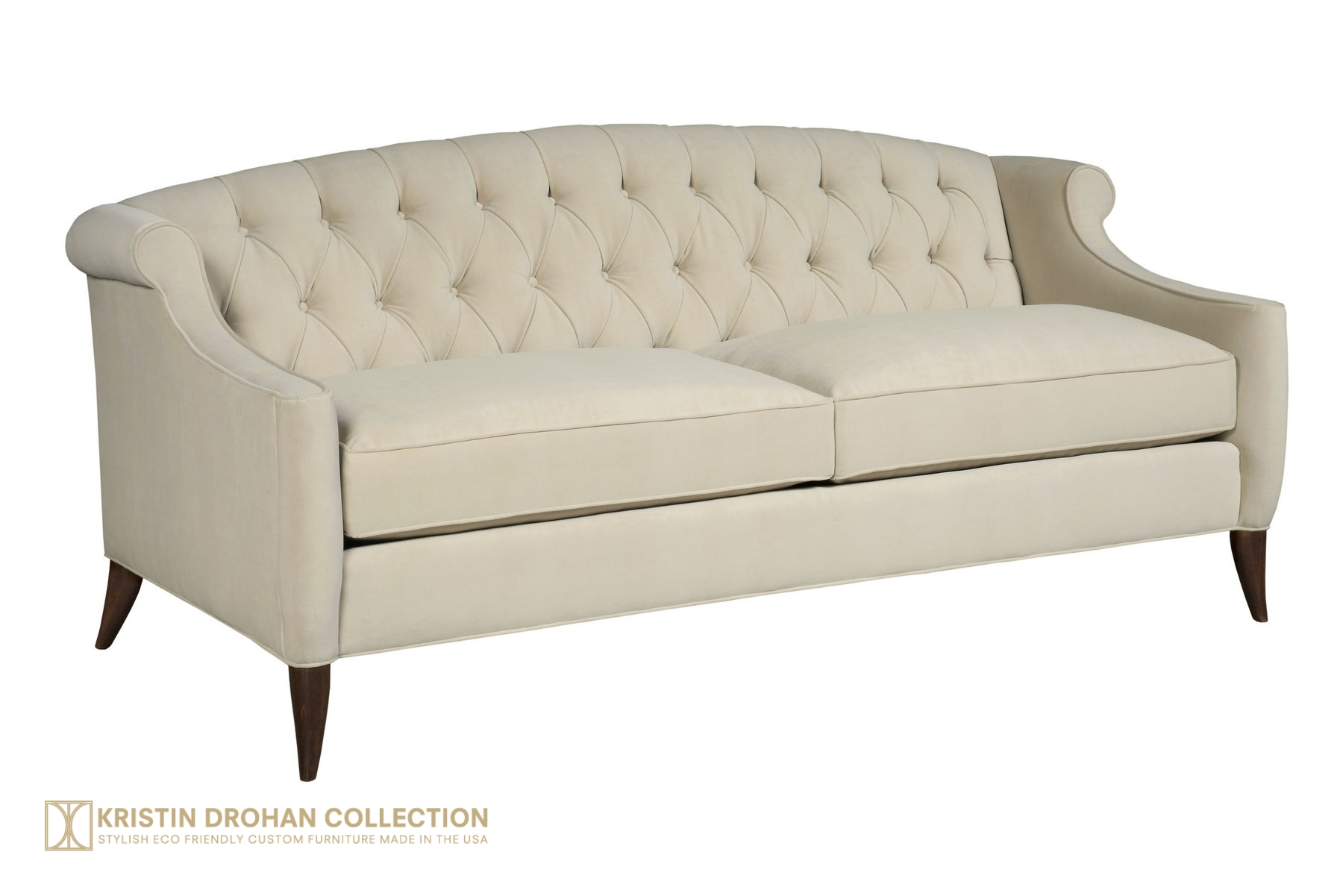 Coco Sofa 82 - Performance Crypton Velvet Cliff