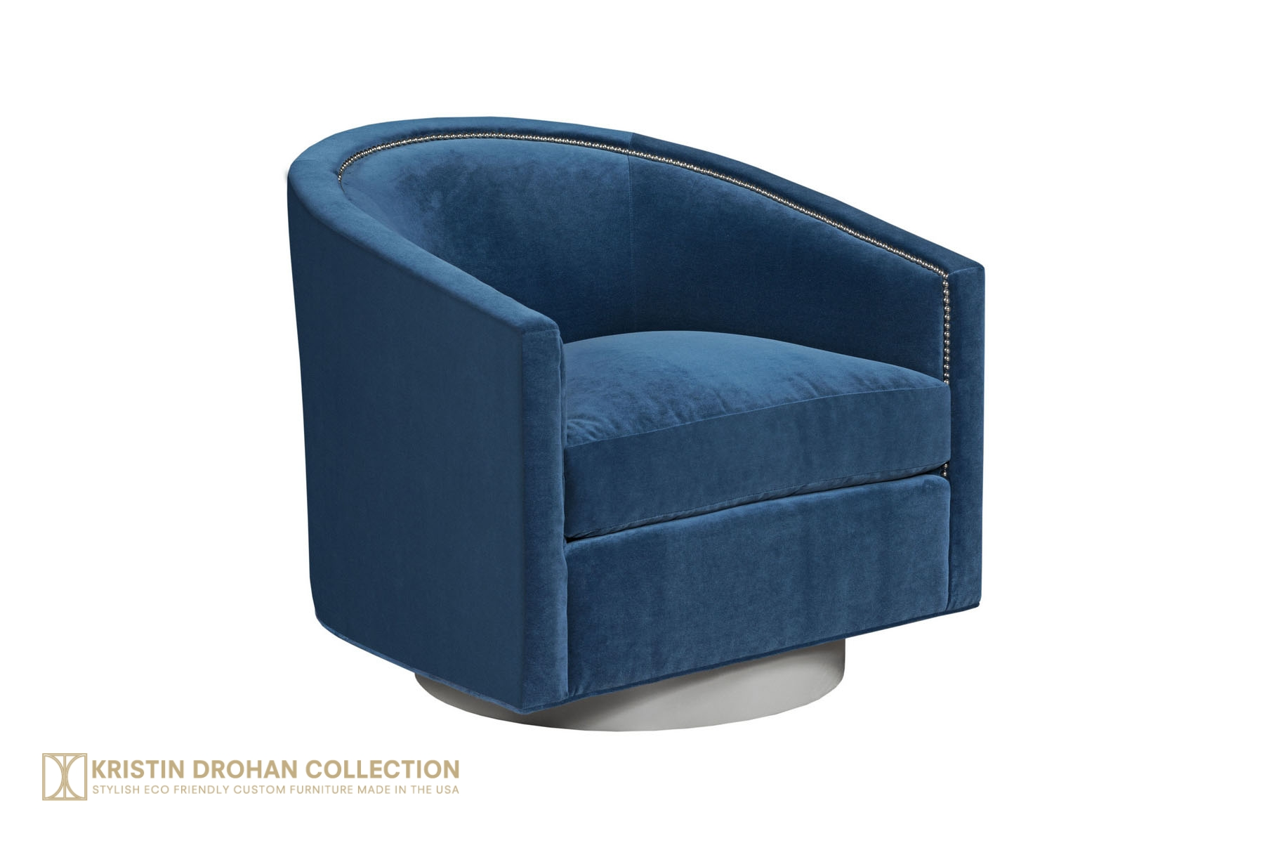 Georgina Swivel - Cotton Velvet Denim