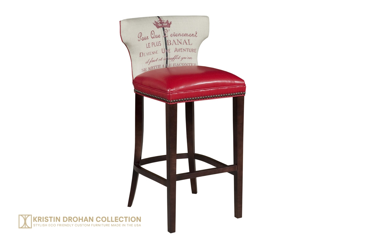 Tremendous Kathryn Bar Stool From The Kristin Drohan Collection Is Unemploymentrelief Wooden Chair Designs For Living Room Unemploymentrelieforg