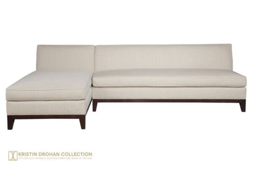 Katie Sectional Evere Creme Linen