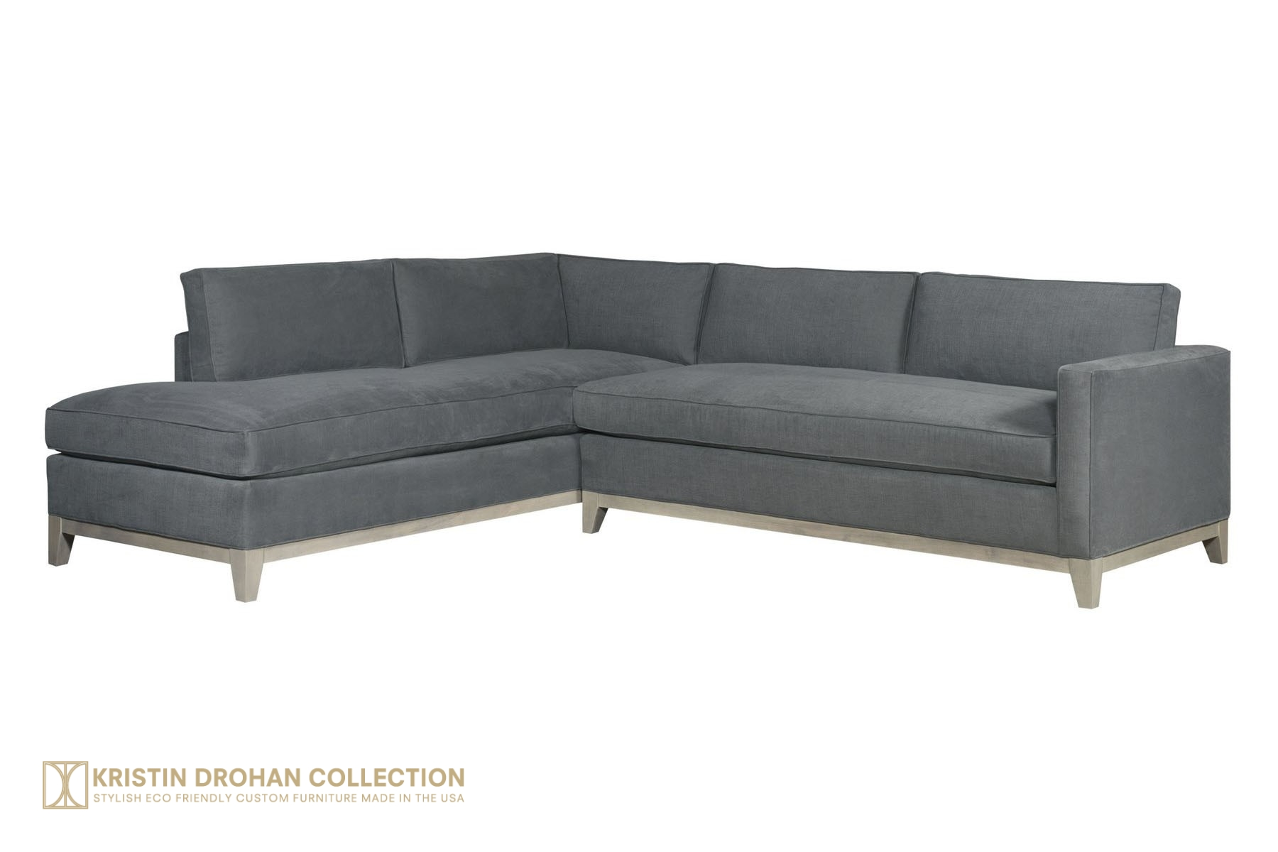 Keegan Designer Sectional Sofa Kristin Drohan Collection