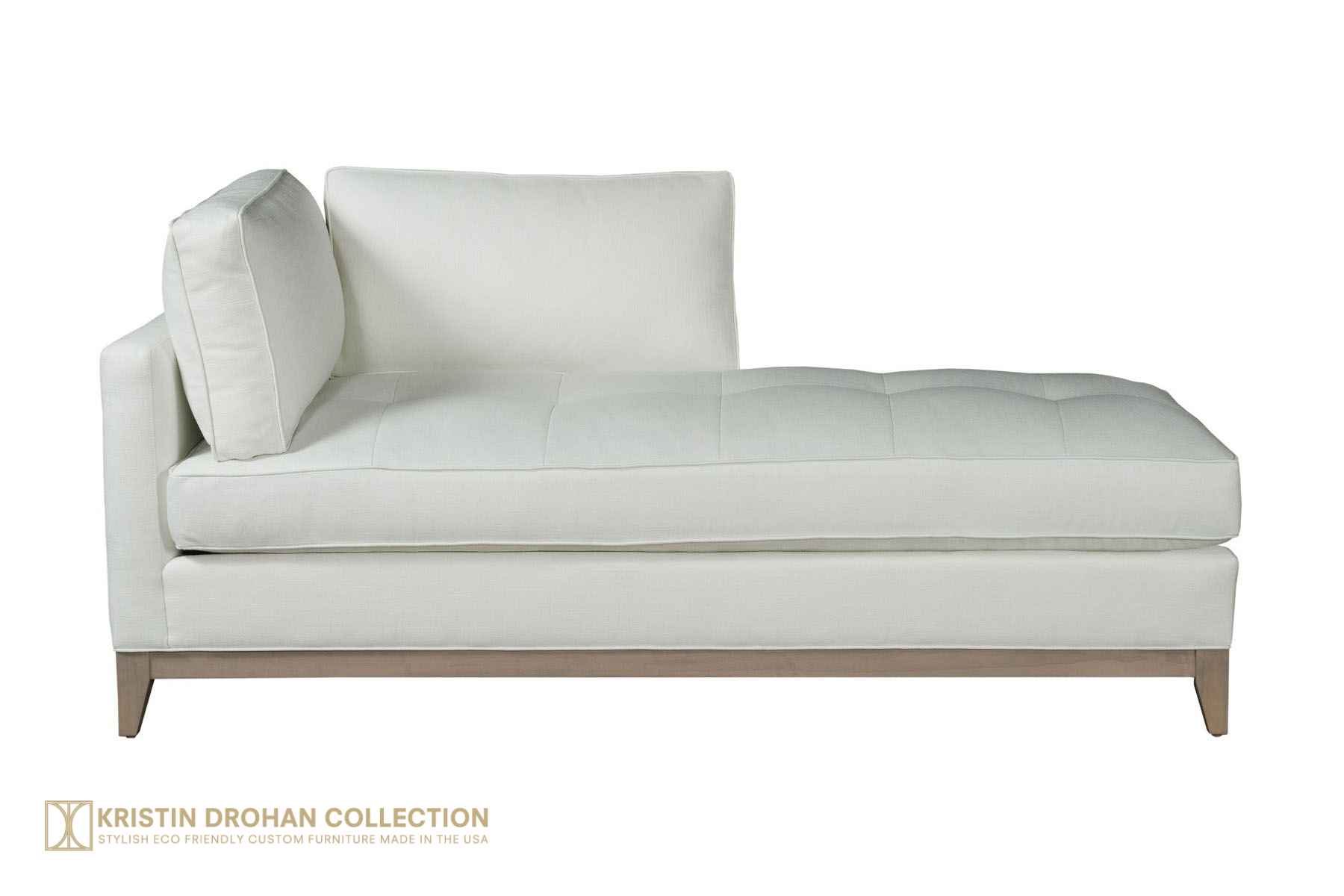Miramar Chaise - Linen Ivory