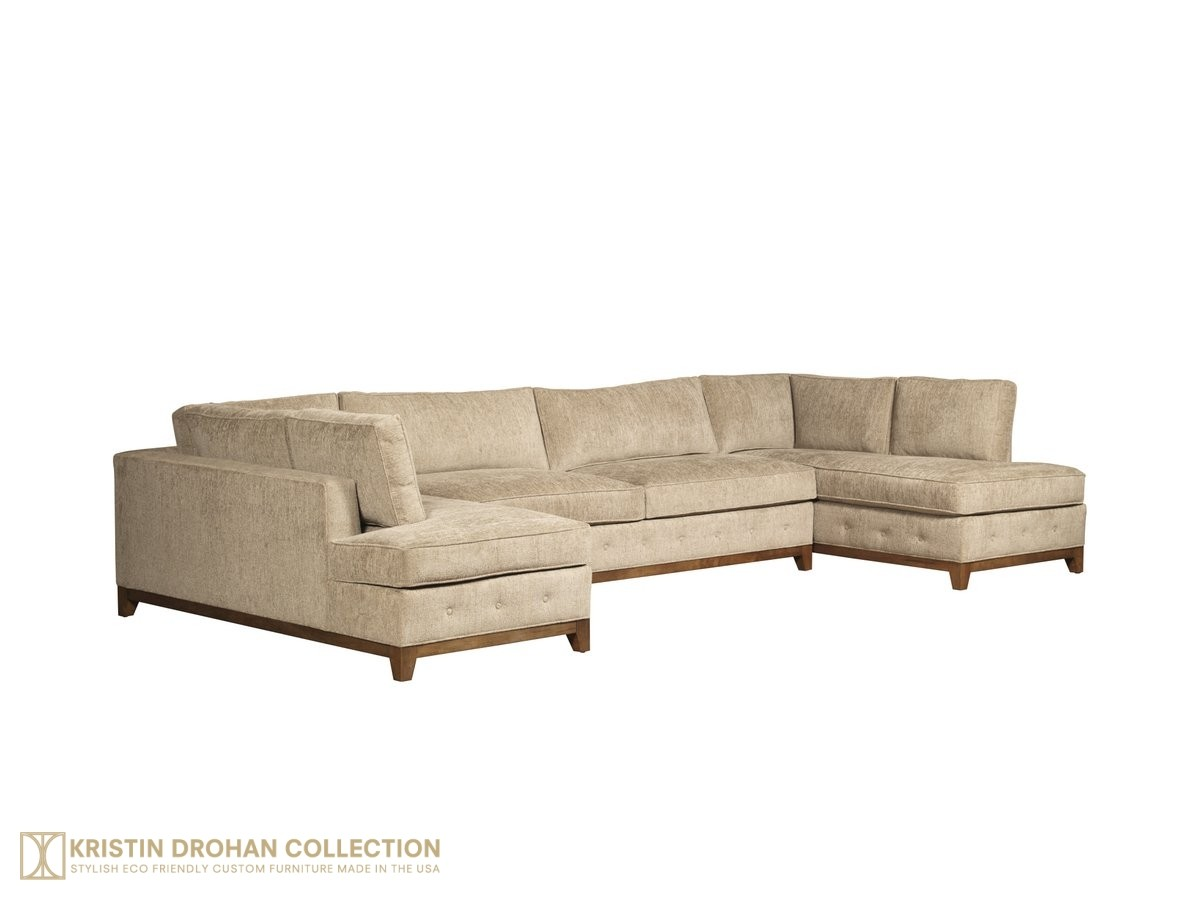 Raegan Sectional - Taupe-Chenille