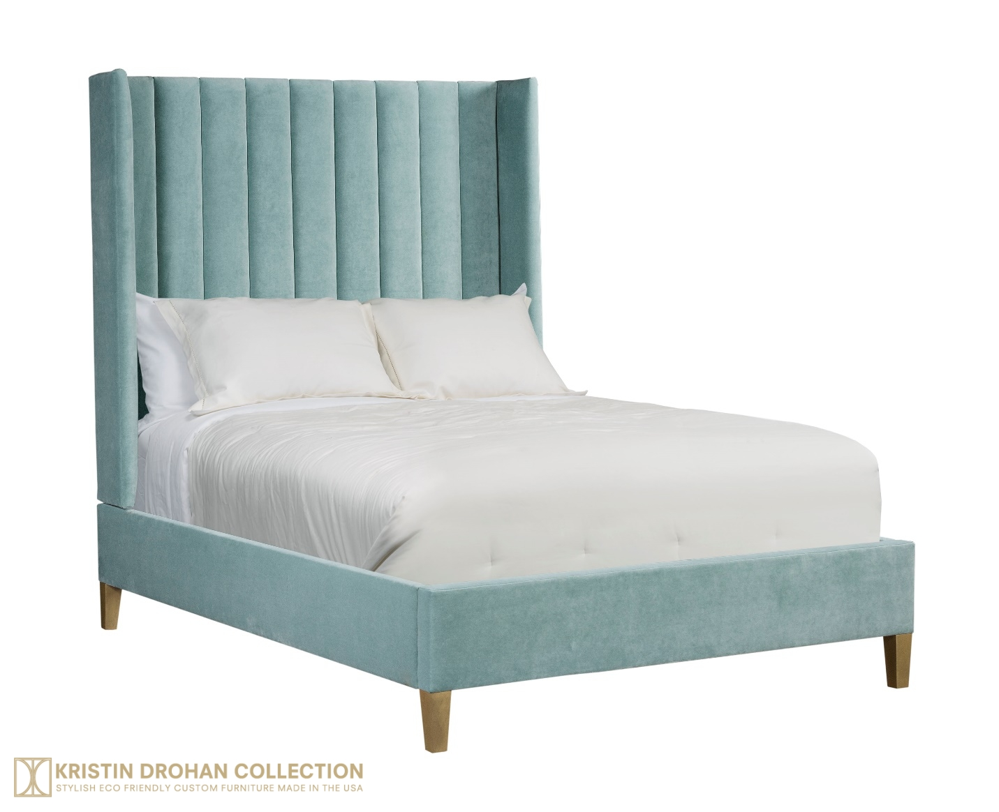 Bronie channel-tufted upholstered bed