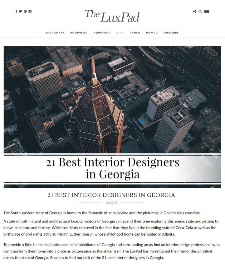 Best Interior Designers in Georgia