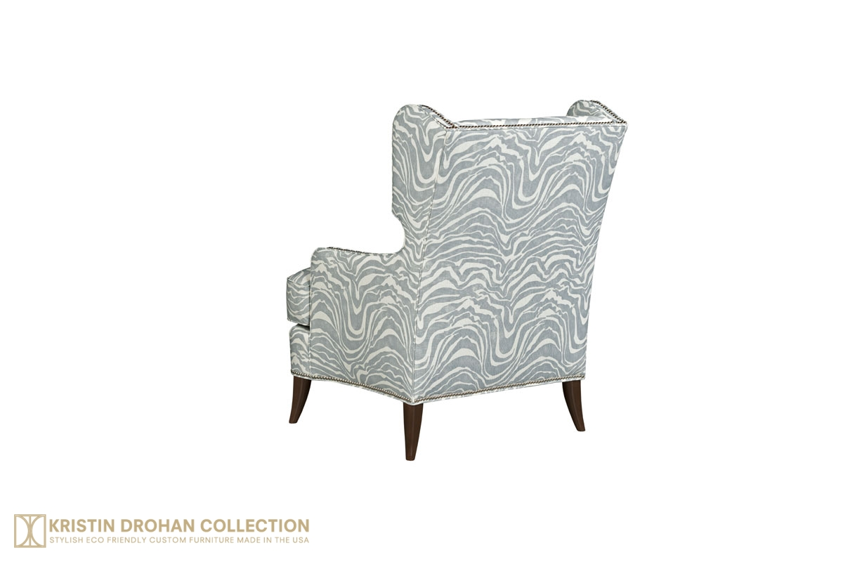 Augusta wing chair and ottoman the kristin drohan collection for Kristin drohan interior design